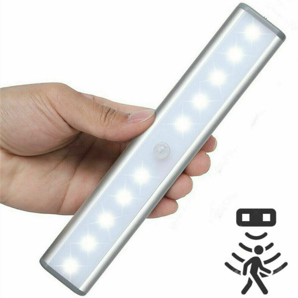 Rechargeabl 10 LED Light Infrared Motion Detector Wireless Sensor Closet Cabinet