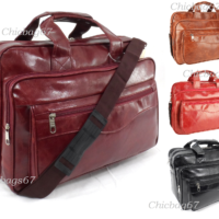 New PU Leather Business Office Laptop Messenger Briefcase Travel Shoulder Bag