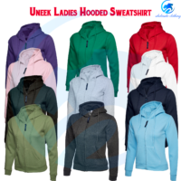 Ladies Pullover Hoodie UNEEK Classic Full Zip Hooded Sweatshirt Casual Women TOP