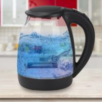 2.0L Electric Kettle Blue LED Illuminated 360° Cordless Glass Kettle Jug 2200W