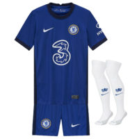Authentic 2020-21 Chelsea Kids Adults Football Kit PULISIC 22 Soccer Jersey Suit