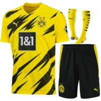 20-21 Football Club Full Kit Kids Boys Youth Soccer Jersey Strip Training Suits