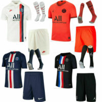 20/21 PSG Football Soccer Shirt Kits Kids Boys Jersey UK Seller
