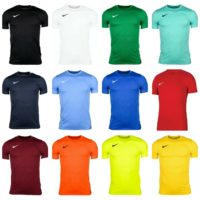 Nike Boys Park VII T-Shirts Sports Football Gym Kids Training Top DRI-Fit Jersey