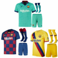 2019/20 Barcelona Football Soccer shirt Kit Kids Boys Adult Jersey #10 MESSI
