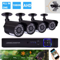 4CH 1080P DVR CCTV Camera Home Security System Kit IR Outdoor Night Vision