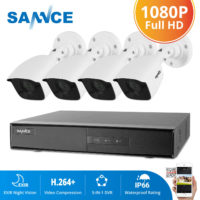 SANNCE HD 8CH 1080P 5IN1 DVR 3000TVL IR Outdoor CCTV Home Security Camera System