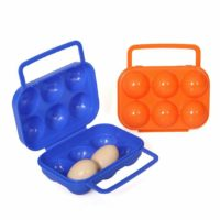 Egg Carrier Plastic Portable 6 Eggs Container Case Egg Storage Box for Outdoo