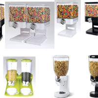 CEREAL DISPENSER SINGLE/DOUBLE DRY FOOD CONTAINER KITCHEN OATMEAL NUTS MACHINE