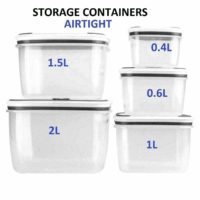 10pc Set Air Tight Containers Plastic Food Storage Lunch Box BPA Free Reusable