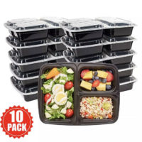 Meal Prep Food Containers Microwavable BPA Free Plastic Reusable Lunch Box