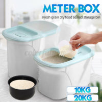 5/10KG Grain Rice Cereal Food Dispenser Storage Box Kitchen Plastic Container