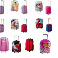 New childrens unisex school disney character suitcase travel trolley wheeled bag
