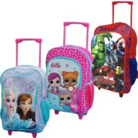 Disney KIDS BOYS GIRLS CABIN TROLLEY CASE WHEELED RUCKSACK SUITCASE HAND LUGGAGE