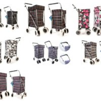 LARGE 6 WHEEL SHOPPING TROLLEY FOLDING HEAVY DUTY WATERPROOF LUGGAGE