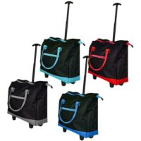 Lightweight Two Wheeled Shopping Trolley Cabin Weekend Overnight Travel Bag Cart