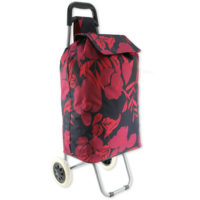 ARIANA 2 Wheel Large Strong Shopping Trolley Shopping Cart Grocery Bag Black