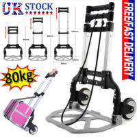 80KG Heavy Duty Foldable Lightweight Hand Sack Trolley Truck Barrow Cart Wheel