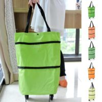 Foldaway 2 Wheels Shopping Shopper Grocery Trolley Luggage Carrier Bag 5 colours