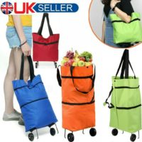 Folding Supermarket Shopping Bag Trolley Grocery Cart On Wheels Reusable Handbag