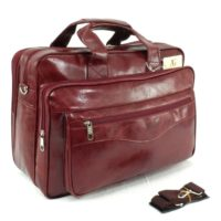 Executive Business Laptop Briefcase Office Work Cabin Pu Leather Travel Case UK