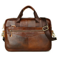 UK Men Leather Laptop Handbag Briefcase Business Crossbody Shoulder Bag Tote