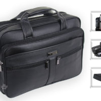 Mens Black Laptop Bag Business Briefcase Messenger Satchel Work Office Bag 181