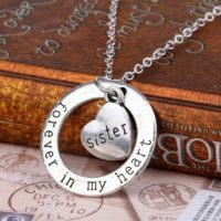 Forever In My Heart Silver Family Necklace Pendant Perfect Christmas Gift A142
