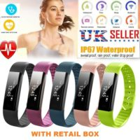Smart Fitness Tracker Activity Running Sports Watch Bracelet Heart Rate ID115 F0