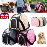 Pet Dog Cat Puppy Portable Travel Carrier Cage Bag Folding Kennel Box Holder EVA
