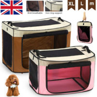 Large Portable Folding Pet Dog Cat Puppy Car Travel Carry Carrier Cage Crate Bag