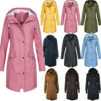Plus Size Women Winter Outdoor Windproof Jackets Parka Hooded Winter Warm Coat