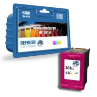 REFRESH CARTRIDGES TRI-COLOUR CH564EE/301XL INK COMPATIBLE WITH HP PRINTERS