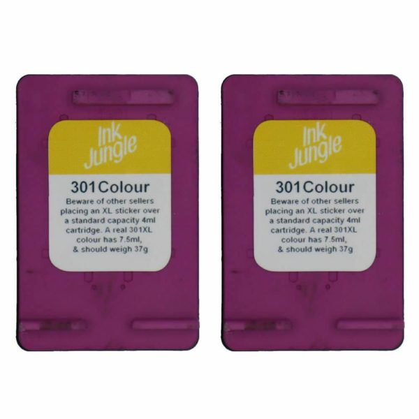 Refilled HP 301 Black / Colour Ink Cartridges For ENVY 4500 Inkjet Printer