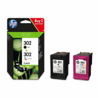HP 302 Black & Colour Ink Cartridge Combo Pack For ENVY 4527 Printer