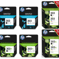 Original HP 303 / 303XL Black & Colour Ink Cartridge For ENVY Photo 7130 Printer