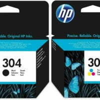 Original HP 304 Ink cartridges black and tri-colour pack for Deskjet Printers