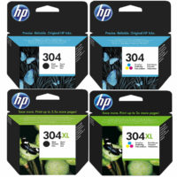 Original HP 304 / 304XL Black & Colour Ink Cartridges For HP ENVY 5020 Printer
