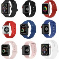 Apple Watch Series 3 4 5 38/40/42/44mm Soft SILICONE Sport Strap Band