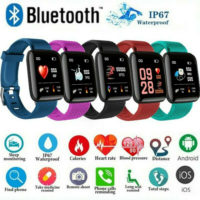 116 Plus Smart Watch Bluetooth Heart Rate Blood Pressure Monitor Fitness Tracker