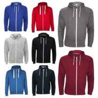 Mens Plain Zip Fleece Hoodie Top Casual Coloured Hooded Jacket Sweatshirt S-5XL