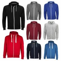 Mens Plain Colour Zip Up Hoodie Hooded Jacket Fleece Sweatshirt Hoody Jumper Top