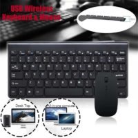 Ultra Slim USB 2.4GHz Cordless Wireless Keyboard and Mouse Set for PC MAC Laptop
