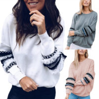 Women Hoodies Hooded Casual Sweatshirt Winter Long Sleeve Tassel Travel Pullover