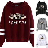 Womens Funny Friends Tv Show Hooded Sweatshirt Printing Casual Pullover Gift