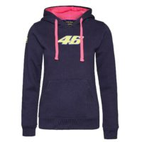 SWEATSHIRT ladies Hoody Bike MotoGP Valentino Rossi Womens NEW! Hoodie Navy