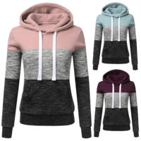 Women's Casual Hoodies Sweatshirt Ladies Hooded Long Sleeve Tops Jumper Pullover
