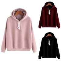 Womens Hooded Sweatshirt Ladies Winter Warm Hoodies Tops Jumper Pullover Sizes