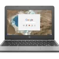 "HP 11-v051na 11.6"" Laptop Chromebook Intel Celeron 16GB eMMC Grey"