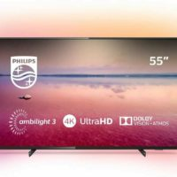 Refurbished Philips 55 Inch 55PUS6704 Smart 4K Ultra HD HDR Ambilight LED TV UK
